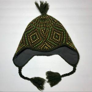 Patagonia Fleece Lined Earflap Beanie Pompom Hat
